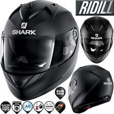 SHARK Helm RIDILL BLANK MAT HE0502 KMA schwarz matt mit Sonnenblende L 59/60