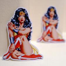 "Sexy Wonder Woman Pin Up Vintage Comics 3x4"" Decal Sticker #3406"