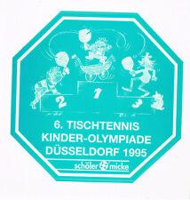 Aufkleber Tischtennis 6. Kinder Olympiade 1995