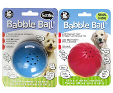 (2) Med Babble Balls--1 Talking, 1 Animal Sounds Interactive Pet Toys!