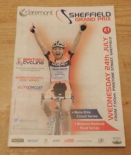 Sheffield Grand Prix - British Cycling Programme Wednesday 24th July 2013