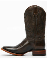 Bottes cowboy mexicaines à la main en cuir brun mexicain