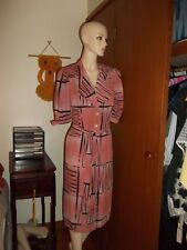 EUC - 80's high end dusty pink Vintage corporate Dress - SZ S 8 10