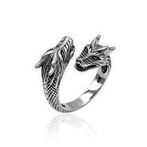 Designer Handmade BALI DRAGON Cocktail Ring in 925 Sterling Silver - New  #S25