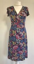 Fat Face Summer A-line Floral Plunging Dress UK 8