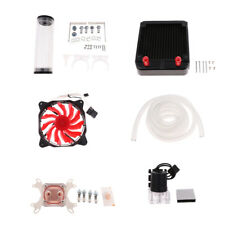PC Liquid Water Cooling Radiator Kit Pump Reservoir CPU GPU Blocks HeatSink