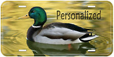 Duck In Water Aluminum Auto Tag Novelty License Plate