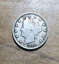 """1910 Liberty """"V"""" Nickel 5 Cents #109"""