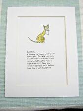 "SAVANNAH CAT  Mounted Print 9x7"" Art Picture Cartoon Humour"