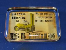 Vintage Delaware Trucking Co. Muncie,Indiana County Glass Paperweight 5# phone