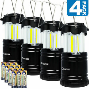LED Camping Lantern, Costech Portable COB Light Ultra Bright Collapsible Lamp