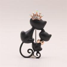Badge Corsage Brooch Wedding Jewellery Dm Cartoon Double Black Cat Collar Pins