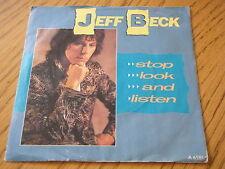 """JEFF BECK - STOP LOOK AND LISTEN  7"""" VINYL PS"""