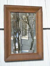 Rare Antique Mission~Art Crafts Aged Finish Oak Mirror~Picture Frame 8 1/4 x 12