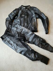 Womens RST Motorcycle Suit Jacket Bottoms UK12 Leather Cowhide Two Piece.