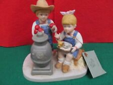 "Home Interior Homco Denim Days #1517 ""Autumn Evening"" 1985 W/ Tag"