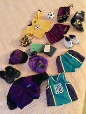 AMERICAN GIRL DOLL CLOTHS LOT. SPORTY COLLECTION JACKET NIKE SHOES SOCCOR SHORTS