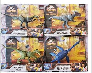4- Jurassic World Velociraptor Charlie Monolophosaurus Plesaiosaurus Stygimoloch
