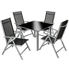 Aluminium 4+1 salon de jardin ensemble sièges meubles chaise table en verre