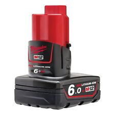 Genuine Milwaukee M12B6 12V 6.0Ah RED Li-Ion Battery
