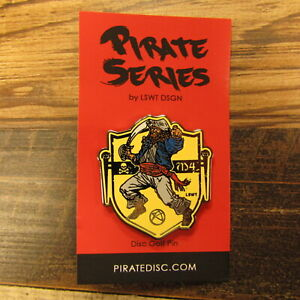 Les White Pirate Series Disc Golf Pin Male Deckhand Pirate LSWT DSGN