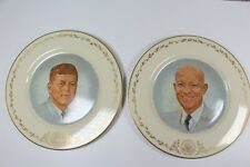 Gorham Jfk and Eisenhower Limited Edition Plates - Norman Rockwell Portraits