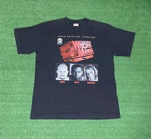 Vintage 1998 Wrestlemania T Shirt Size XL Austin Michaels Mike Tyson Rap Tee WWF