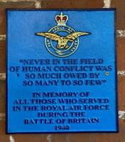 Cast Iron Sign - RAF - BATTLE OF BRITAIN - 80th Anniversary Memorial WW2 WWII