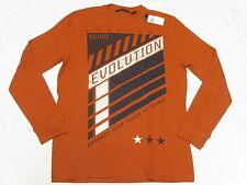 $39 NWT NEW Mens Sean John Evolution Thermal Shirt Tee Orange Urban Size L N277