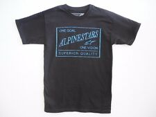 ALPINESTARS Men's Classic Short Sleeve Black with Blue Graphic T-Shirt NWT