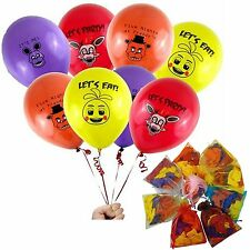 """Fnaf- Five Nights At Freddy's style Party 12"""" Balloons 4 styles - 24 pcs"""