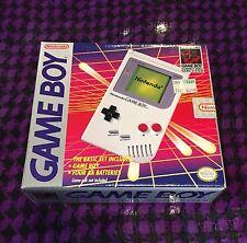 Original NINTENDO GAME BOY Handheld System DMG-01 Gray Grey COMPLETE IN BOX CIB