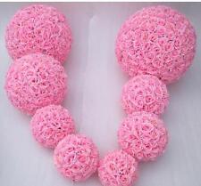 Pink  Rose Flower Pomander Wedding Kissing Ball 11-12 inches USA Seller