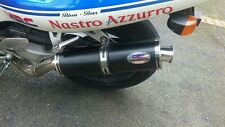 Honda RVF400 Stainless Black Round Road-legal Motorbike Exhaust Can