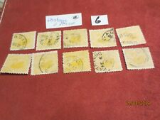 No-10-1885 Western Aust; Two Pence Postage Yellow -9 Stamps -Used