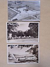 3 Vintage Sandy Beach Resort Ontario Canada black & white postcards