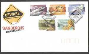 Australia 2006 Crocodile/Snake/Shark 5v s/a FDC  n16441