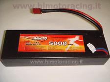 BATTERIA LIPO 5000 mAh 7,4V burst 40C disch 20C 2S AUTO BARCHE HARDCASE HIMOTO