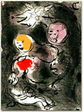 Marc Chagall - Bible - The Prophet Daniel with the Lions, M.142 - 2 Lithographs