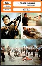A TOUTE EPREUVE - Chow Yun-Fat,John Woo (Fiche Cinéma) 1992 - Hard Boiled