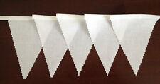 Tessuto Bianco Bunting Decorazione Festa Matrimonio 22 FT (ca. 6.71 m) = 6.8mtr compra 3 paghi 2