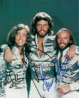 THE BEE GEES SIGNED AUTOGRAPH 8x10 RP PHOTO BARRY ROBIN AND MAURICE GIBB DISCO