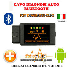 DIAGNOSI AUTO MULTIMARCA KIT SCANCLIC BLUETOOTH AUDI, BMW, MERCEDES, VW