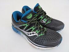 Saucony Triumph ISO Mens Sz 8.5 Running Athletic Shoes Gray/Black/Slime S20262-4