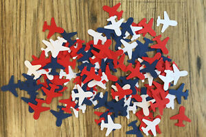 Airplane/Aeroplane/Plane Table Confetti/Decoration/Punches - Red, White & Blue