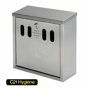 High Quality Square Cigarette Bin - Stainless Steel, Weather Proof Metal- NEW