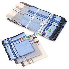 12Pcs 36x36cm Mens Vintage Pocket Hanky Cotton Handkerchief Square Handkerchiefs