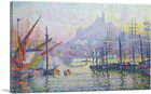 ARTCANVAS View of the Port of Marseilles Canvas Art Print by Paul Signac