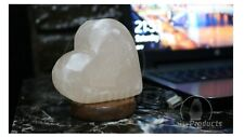 Himalayan Salt Lamp USB Heart Shape Crystal Salt Healing Ionizing Salt Lamps