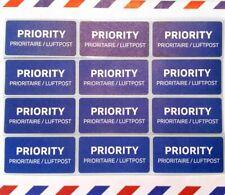 PRIORITY Luftpost Aufkleber Portofrei, auch 100,500,1000 Stück erhältlich.